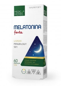 Melatonina forte 5mg / 60kaps - suplement diety